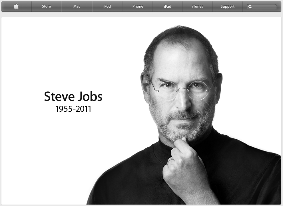 Screenshot der Apple-Homepage